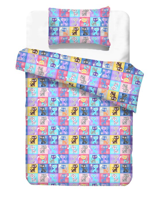 Kids  bedding CATS Violet