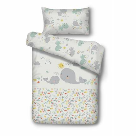 Baby bedding LITTLE WHALE